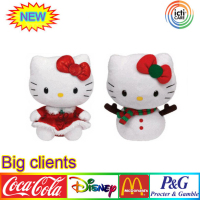 FIGURES Snowgirl HOLIDAY DRESS Wreath Decor HELLO KITTY Christmas Plush Toy