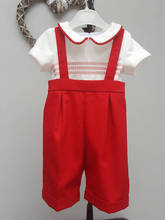 Wholesale Spanish Baby clothes for 1year old with Red Embroiderey