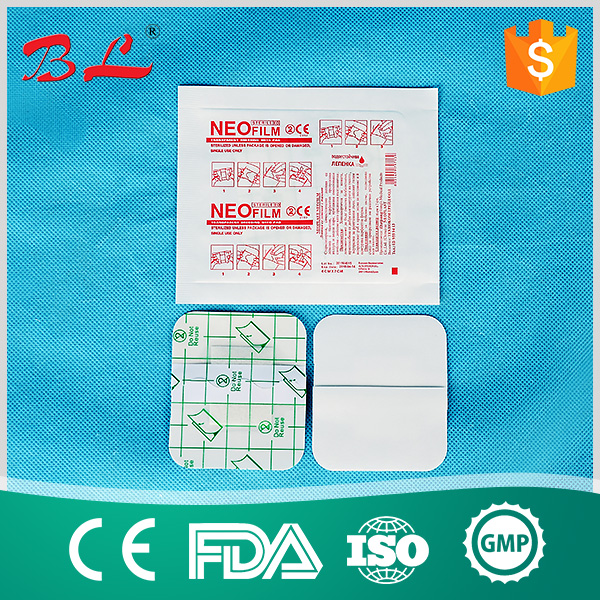 Medical transparent waterproof wound dressing patch