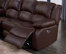 2018 New Arrival Living room luxury furniture Reclining Corner sofa with cupholder brown leather