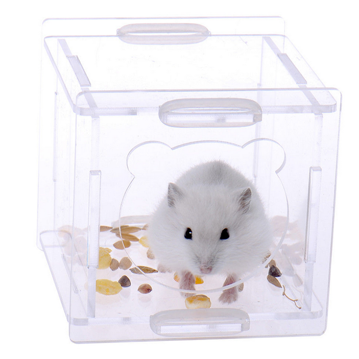 Simple Small Detachable Clear Acrylic Lucite Hamster Rabbit Cage