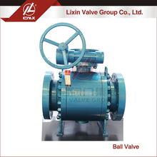Medium Pressure ANSI F304 F316 forged steel trunnion ball valve dn250 for gas