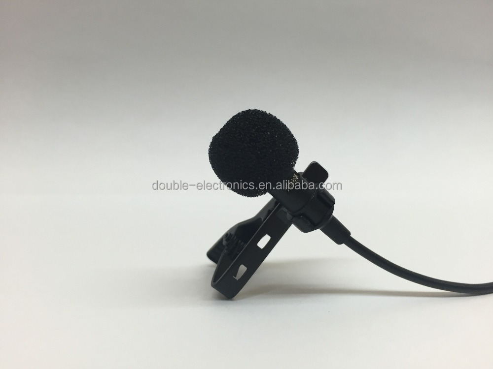 3.5mm hands free clip on mini lapel microphone for mobile phone