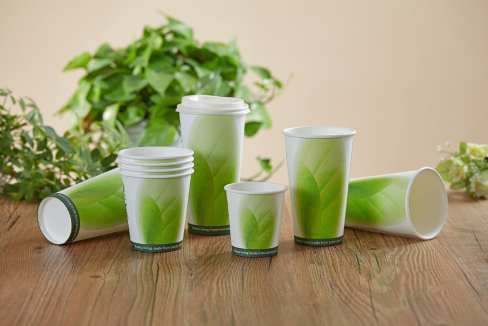 Disposable single wall take away pla paper cup