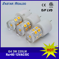 G4 CP 3W led lamp ceramic and PC cover 13pcs 2835SMD replace incandescent light bulb