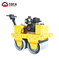 2018 Top quality air coolered honda engine Vibratory ride on road roller