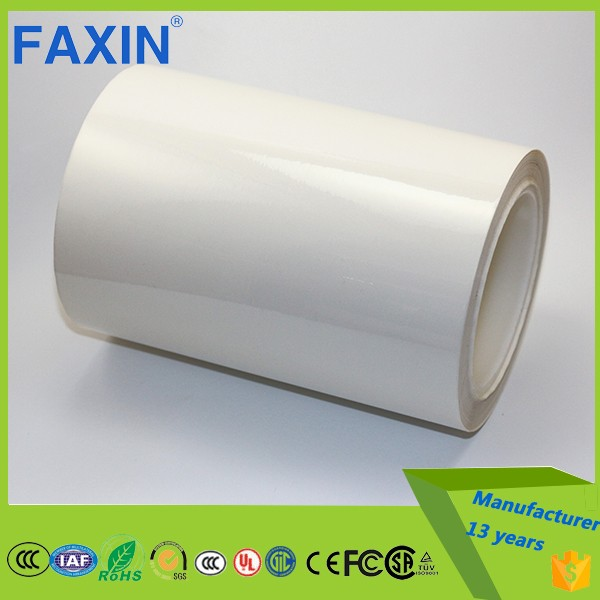 3M 7871 50 micron raw label material strong sticky white polyester film adhesive tape