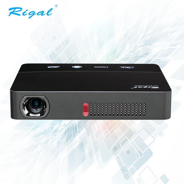 Newest smart wireless 3d dlp mini projector for smartphones