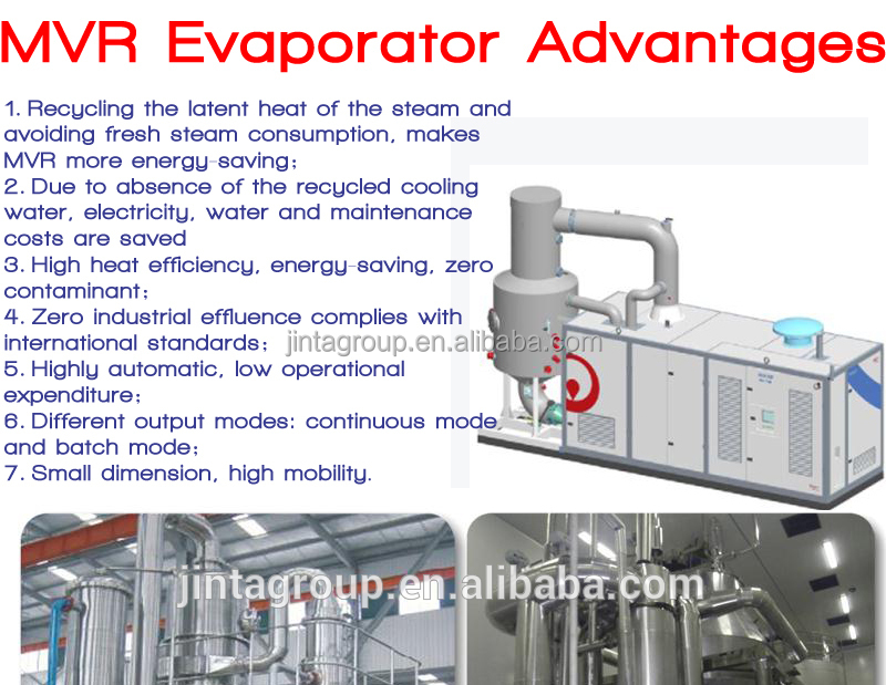 Vacuum Forced Circulation Automatic Mvr Crystallizer For Lactic Acid Waste Water Treatment