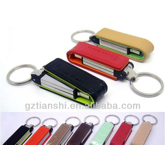 hot sale leather usb flash drive