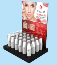 Acrylic Cosmetic Counter Display with Holes, Bottle counter display
