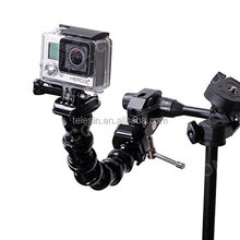 TELESIN Gopros Jaws Flex Clamp Mount with Adjustable Neck for Go Pro Hero6 Hero 5 Hero 4 Session Xiaomi Yi 4K SJ CAM Camera