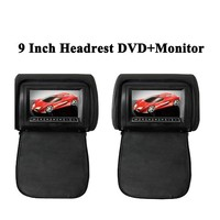 "Wholesal 9"" TFT LED Headrest DVD+Monitor Black,Beige,Gray Available Detachable Headrest leather Cover"
