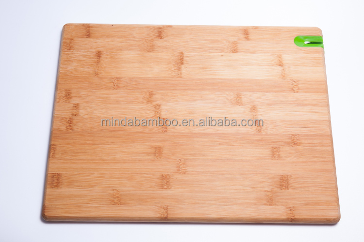 Vegetable Meat Cooking Cutting Carving Chopping Bamboo Board With Knife Grinder