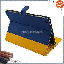 stand leather case for ipad air, jeans style,pu leather 360 degree rotating case for ipad air