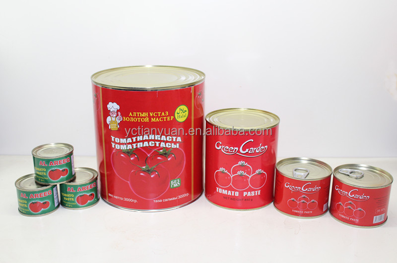 canned tomato paste 70g210g 400g800g850g2.2kg3kg4.5kg