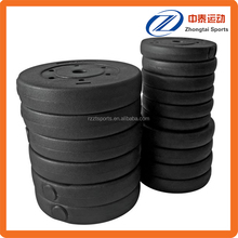cheap weightlifting vinyl plastic weight plates