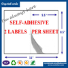 Adhesive sticker printing double face multilayer shipping sticker label