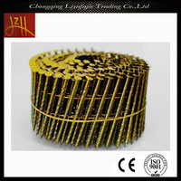 concrete stainless steel coil nail with electroplate treatment