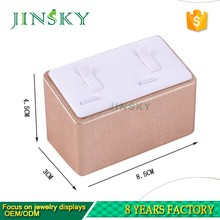 acrylic jewelry display stand display ring box leather