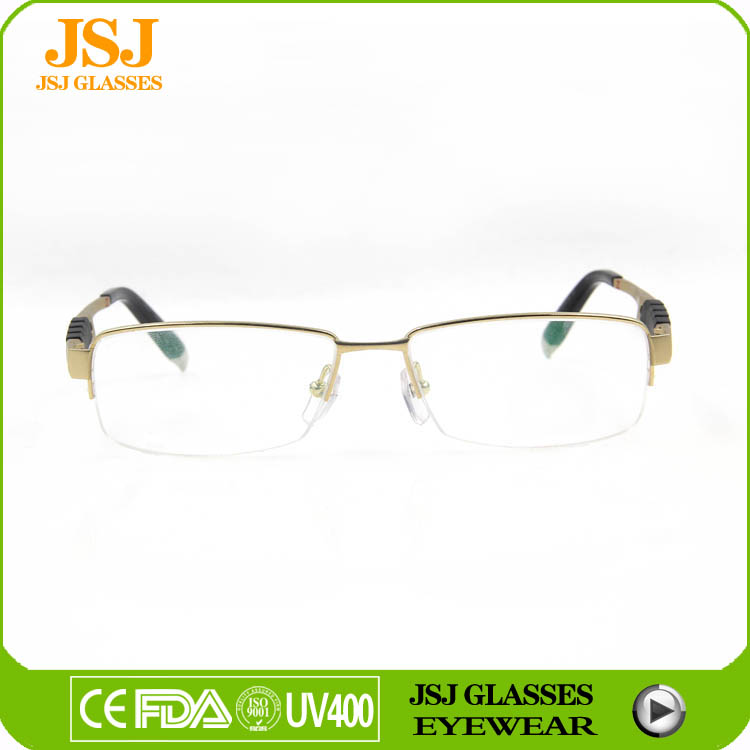 Most Popular Unisex Eyeglasses of 2016 and Spring Temple With Rubber Eyeglasses, Titanium Optical Eyeglasses