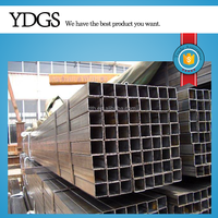 black Welded Rectangular / square Steel Pipe / Hollow Section round tube from tianjin factory