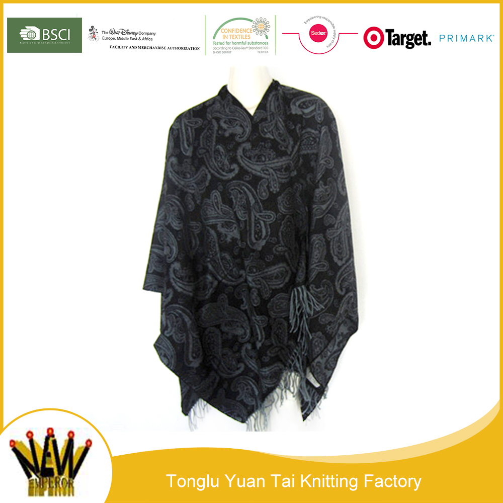 New type factory free sample winter poncho and african shawl