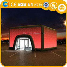 Outdoor 10m Inflatable event tent with LED Lights , Inflatable Cube tent , Inflatable LED Tent for event