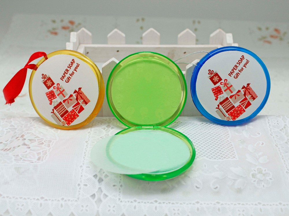 Bath hand washing for travel pocket paper soap sheets