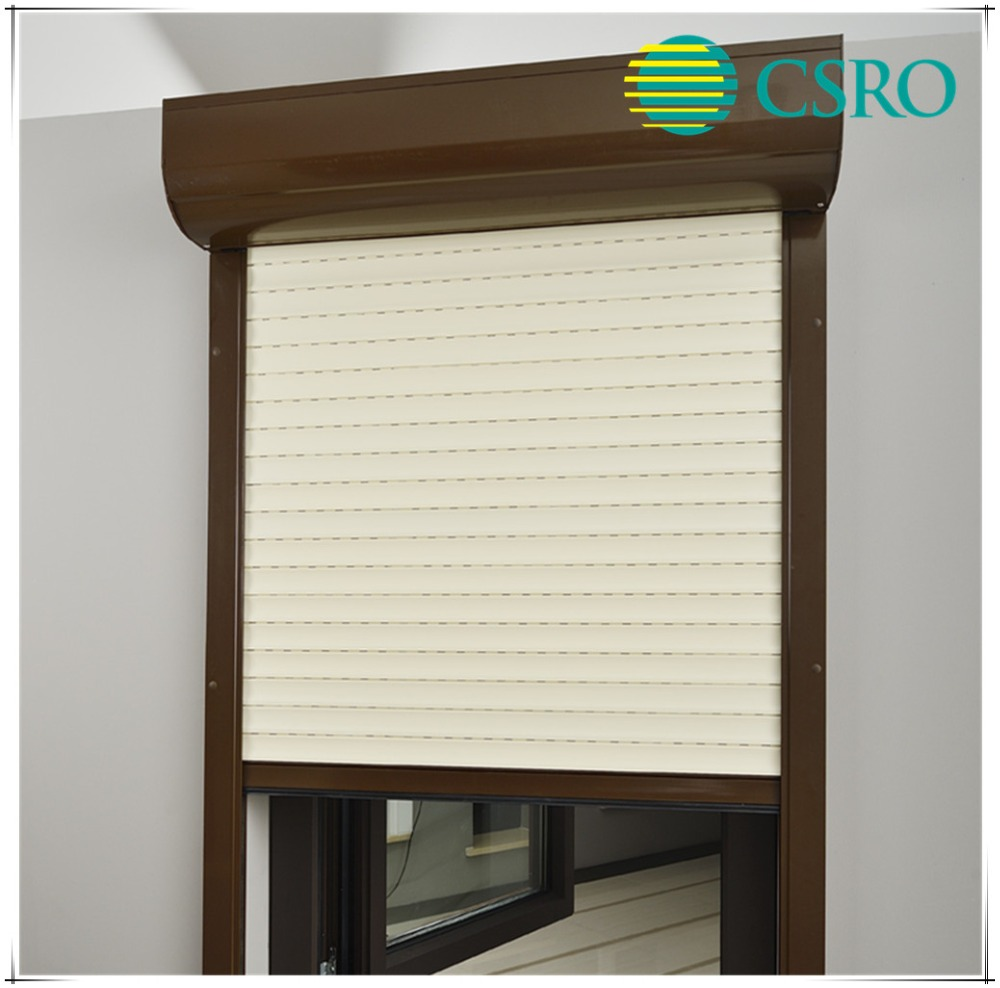 Aluminum rolling window shutter with remote control switch