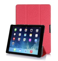 Multi colors smart leather with magnet closure case for Ipad Air 2