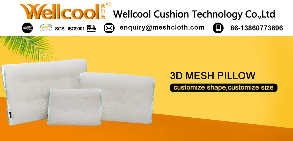 cool washable clean 3d air spacer fabric pillow