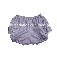 Fashionable Girls Ruffle Plain Pink Blue Cotton Baby Bloomer