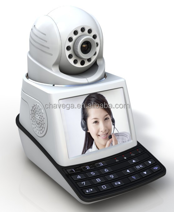 Wireless free call camera with 3.5 inch LCD screen,world smallest hidden video camera