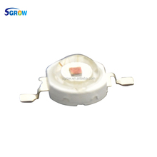 Sgrow Factory Price 3W led chip, Epileds Red 630nm 3w led grow chip
