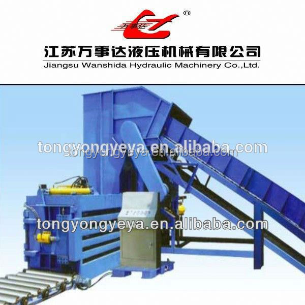 Exported to Mexico manual control waste paper baler