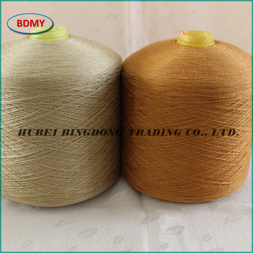 60/2 dyed hot sale quality spun polyester yarn from Wuhan factory