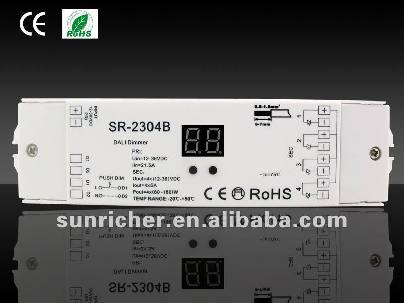 LED DALI touch push dimmer without dimmer function