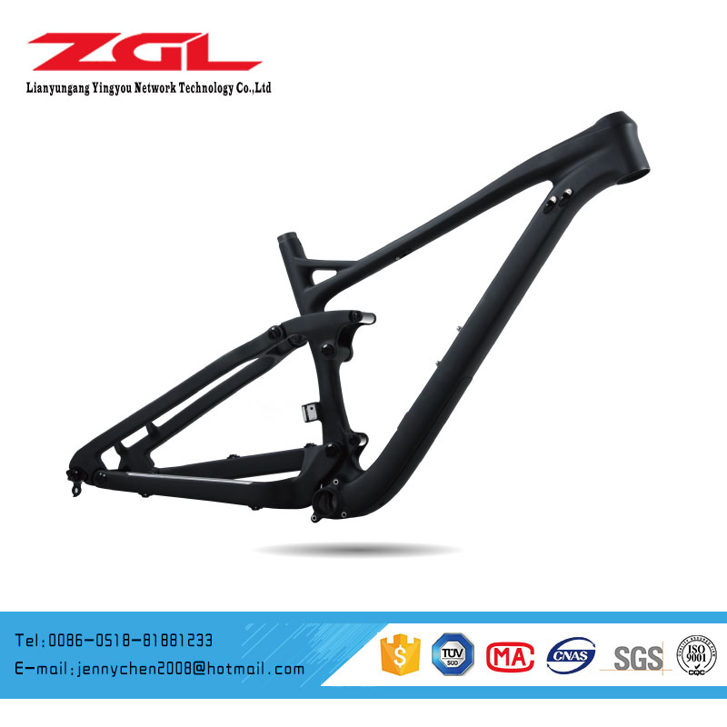 27.5 Plus Full Suspension Carbon Fiber Mountain Bicycle Bike Frame MTB Carbon Bike Frame OEM CFS 01