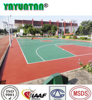 Outdoor sports flooring surface coating