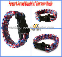 Paracord Survival Bracelet w/ Emergency Whistle
