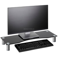 Tempered Glass Computer Monitor Desktop Stand