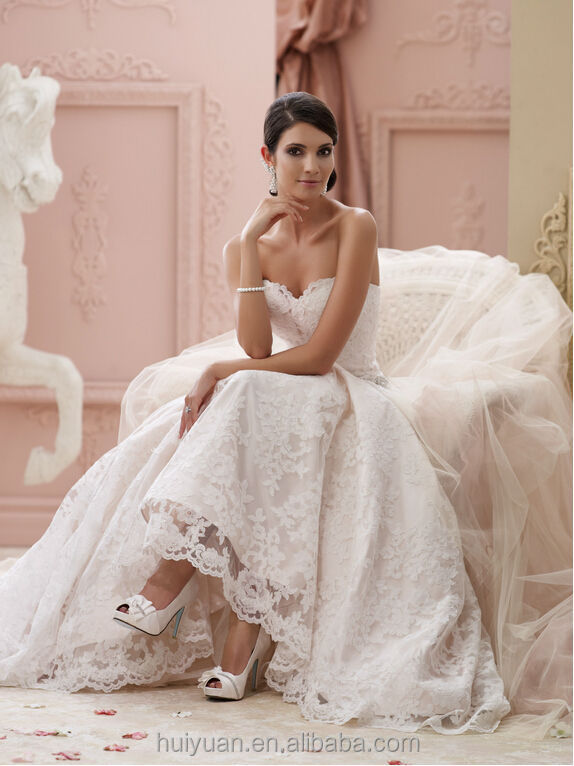 sexy ball gown sleeveless beaded lace wedding dress robe de mariage en perle