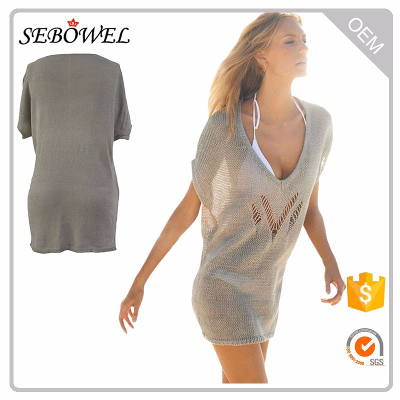2017 New Fresh Lovely Casual Knitted Beachwear Cover up
