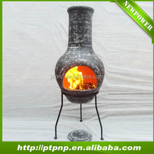 outdoor clay fire chiminea for home and garden