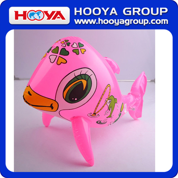 TY94770 Lovely design pink inflatable toy dolphin