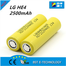 High Drain Discharge current 35A rechargeable 3.7V 2500mAh LGDBHE41865 li-ion ICR 18650 LG HE4 battery