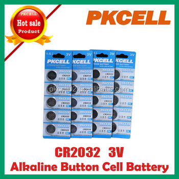 CR2032 3v Lithium button cell battery from pro manufacturer