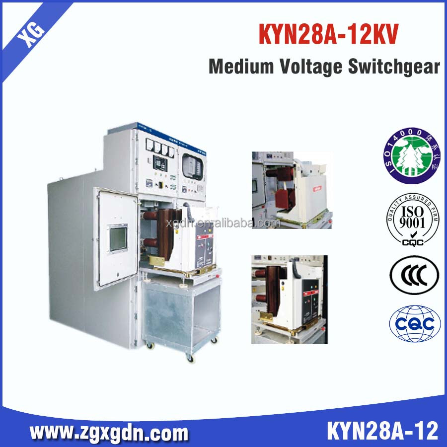 KYN28-12 medium voltage 4000A 12KV switchgear Cubicles