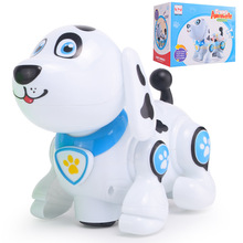 B/O funny animal bump and go dog toy with music and light